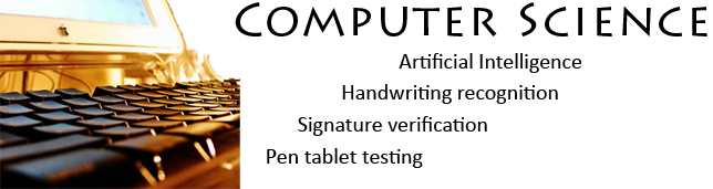 Artificial Intelligence, signature verification, handwriting recognition, pen tablet tests