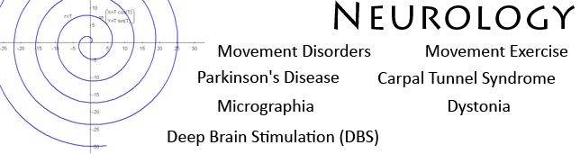 Movement Disorders, Parkinson's Disease, Micrographia, Deep Brain Stimulation (DBS), Dystonia, Carpal Tunnel Syndrome, novel drug tests, movement exercise