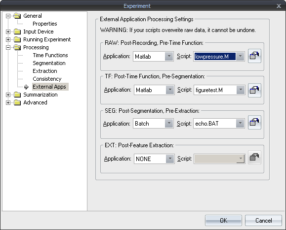 External Processing Support